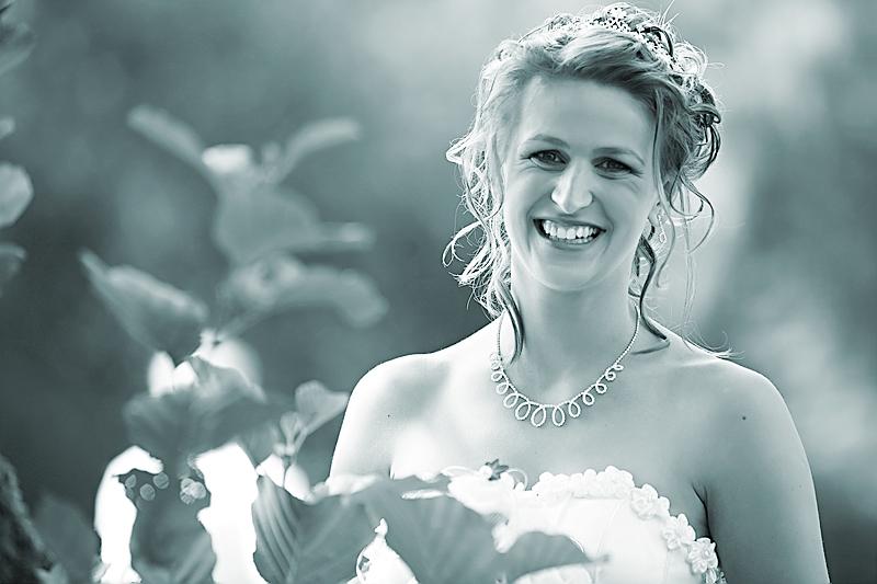 Braut Portrait bei der Hochzeit im Schloss Raesfeld