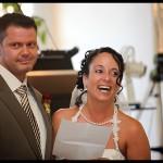 Das Paar richtet das wort an die Hochzeitsgemeinschaft in Herten